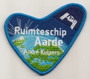 Official André Kuipers 'Spaceship Earth' Embroidered Patch